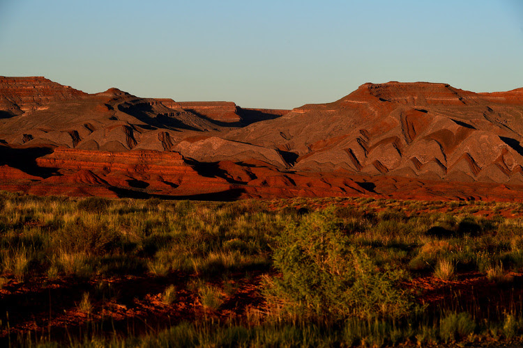 The landscape in Bears Ears National Monument as evidenced as the sun sets June 13, 2017 near Mexican Hat, UT. ( Katherine Frey/The Washington Post)