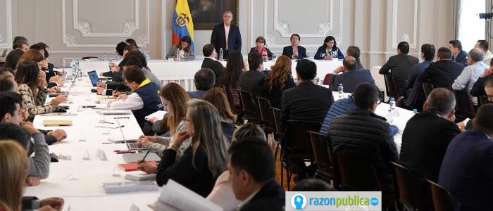 Iván Duque reunido con alcaldes y gobernadores