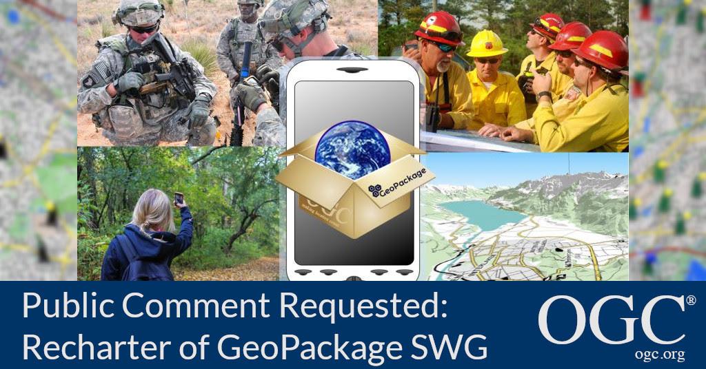 Banner for Geopackage SWG recharter