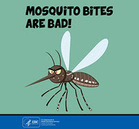 Mosquitoes are bad coloring book cover