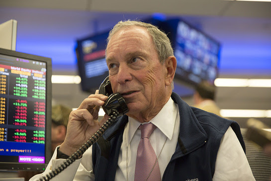 Michael R. Bloomberg takes part in Bloomberg Tradebook's fifth annual Charity Day