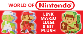 WORLD OF NINTENDO 8 BIT PLUSH