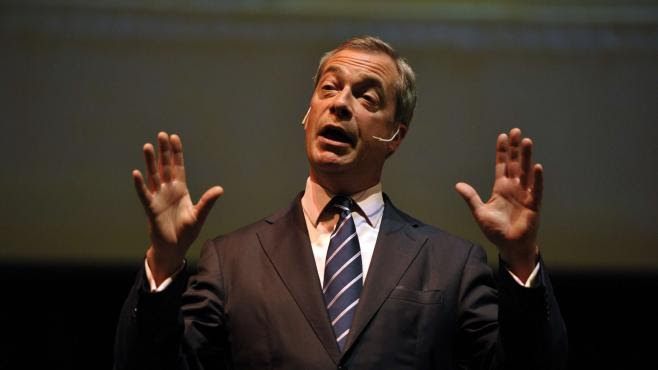 Nigel Farage, le leader de l'Ukip, le 29 avril 2014 à Bath (Royaume-Uni).