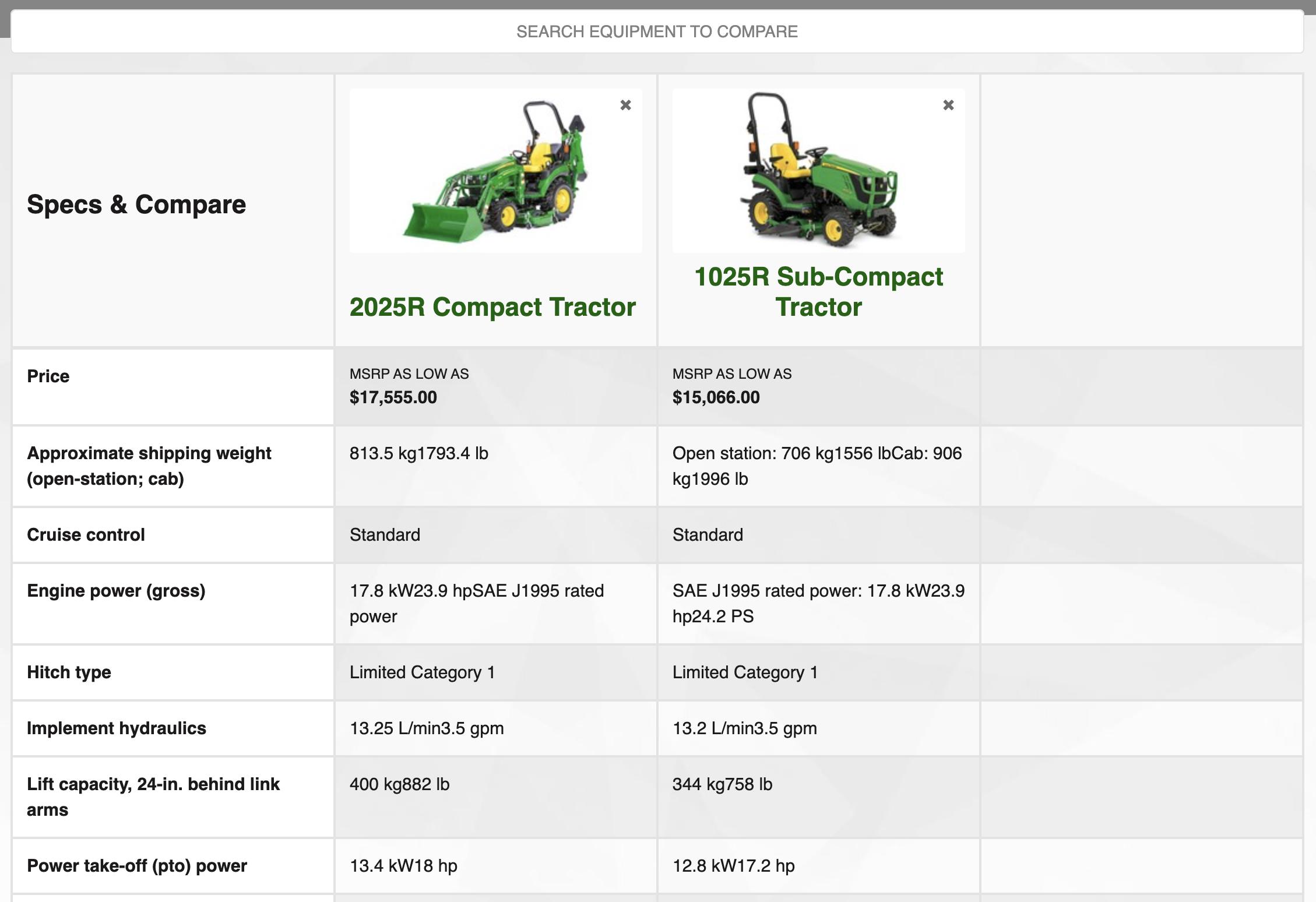 Machine Comparison
