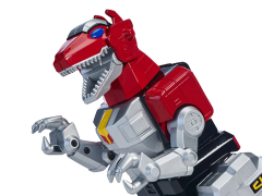MMPR LEGACY RED RANGER FIGURE, SABERTOOTH TIGER, & T-REX DELUXE ZORDS