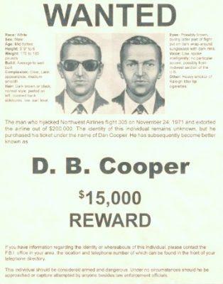 Ο Νταν Κούπερ παραμένει άφαντος μέχρι σήμερα