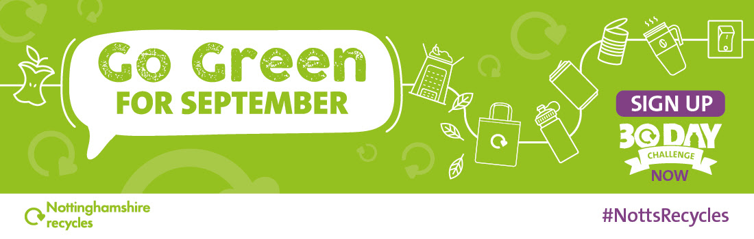 Image text reads Go Green for September Sign up now