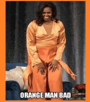 orange man michelle obama