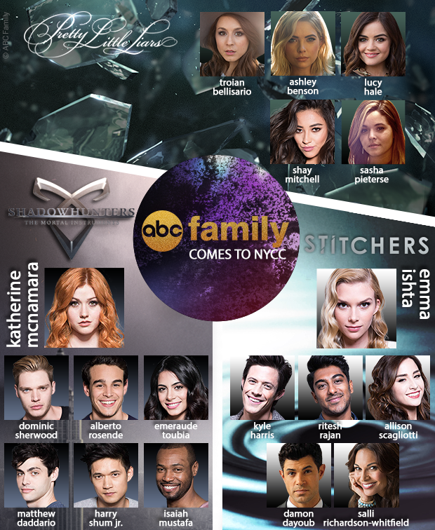 ABC Family Comes to NYCC Pretty Little Liars Shadowhunters Stitchers