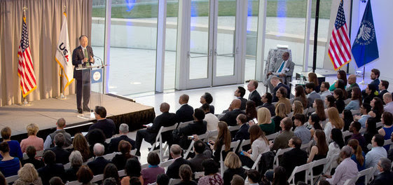 Jim Kim, President of the World Bank Group, speaking at a World TB Day event.
