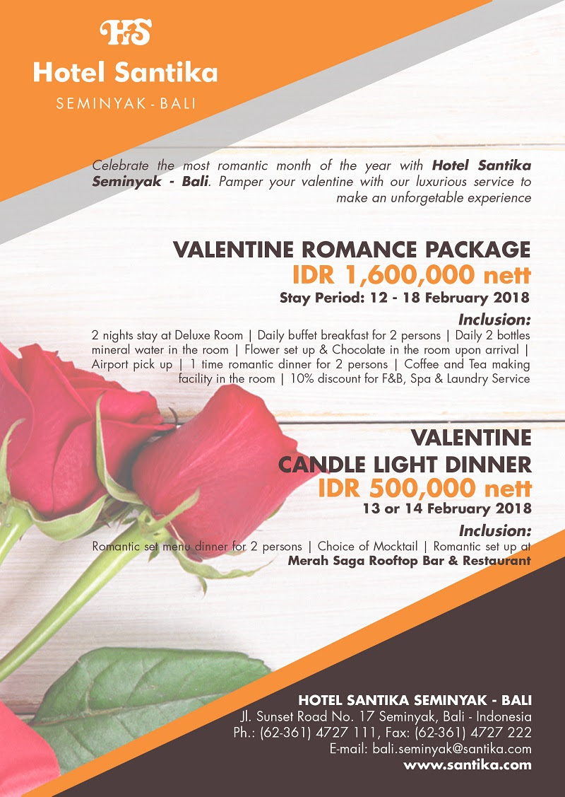 Valentine S Romance At Hotel Santika Seminyak Bali Plus Magazine