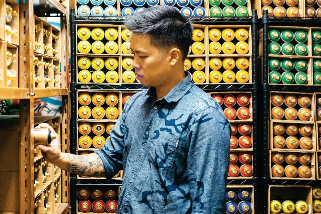 Jasper Wong, founder of Pow! Wow!   Photo: Aaron Yoshino