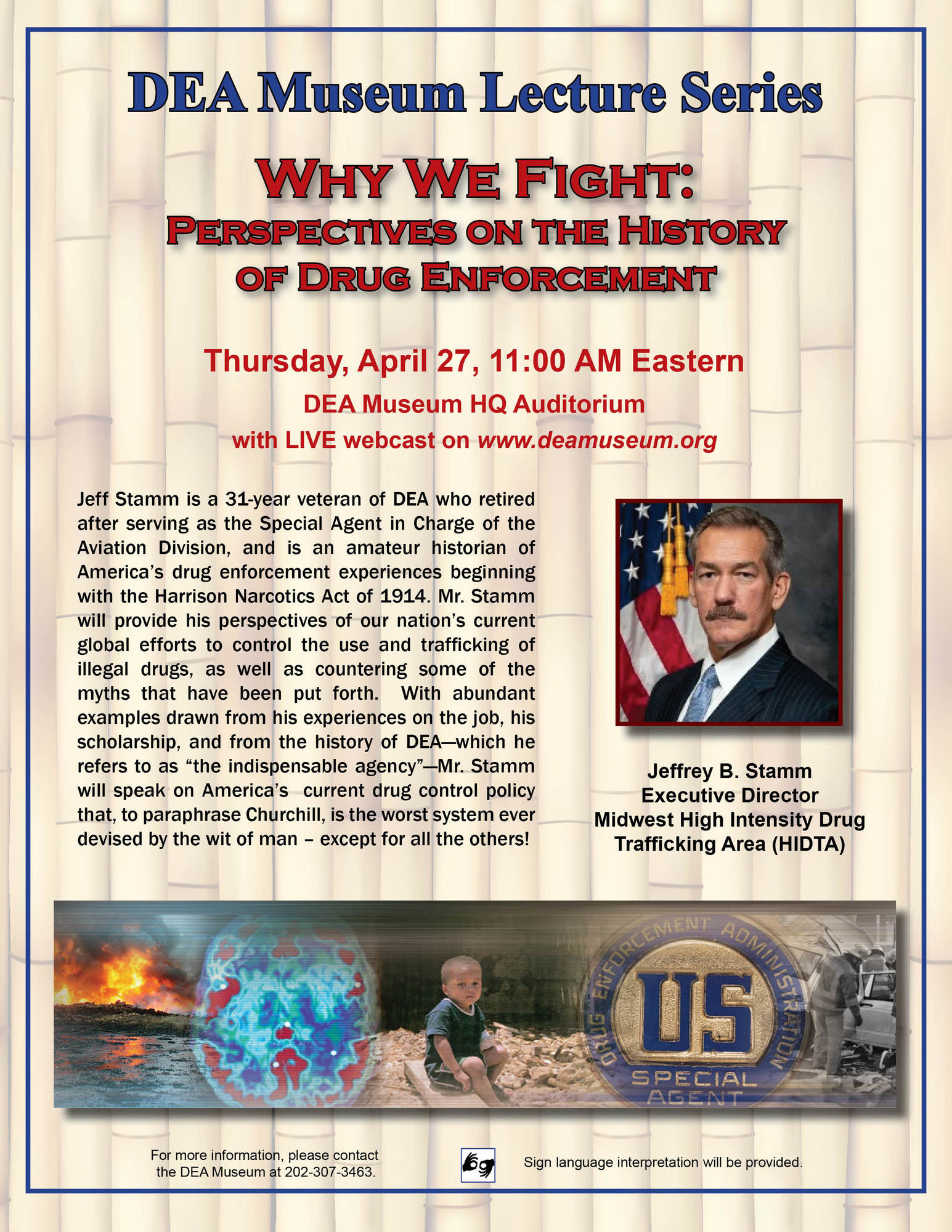 DEA Museum Lecture Series 4-27-2017 Jeff Stamm