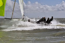 J/80 sailing in planing mode off France