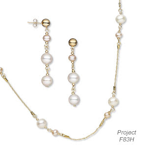 Cultured Freshwater Pearls and 14Kt Gold-Filled Chain (Design Idea F83H)