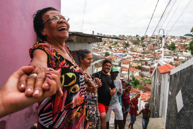 União de moradores transformou o Morro da Conceição de lugar sem água e pavimentação em comunidade referência do Recife. Crédito: Paulo Paiva/ DP (Crédito: Paulo Paiva/DP)