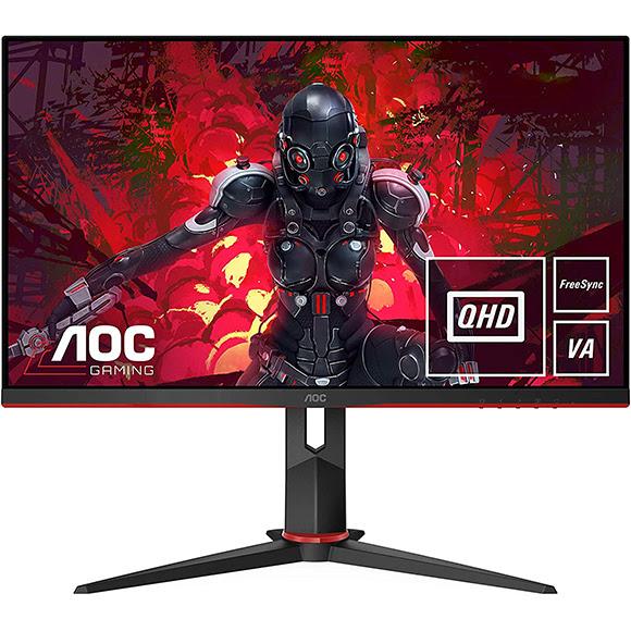 TV, konzol, monitor, tablet akció - AOC Q27G2U/BK QHD VA 1ms 144hz gaming LED monitor