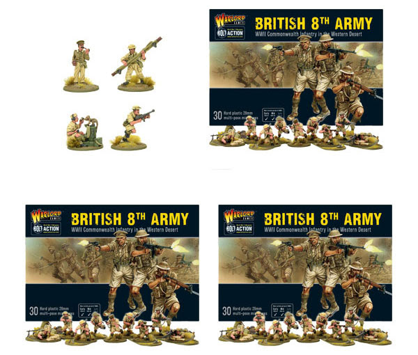 Pre-order Bolt Action British 8th Army and Command Bundle