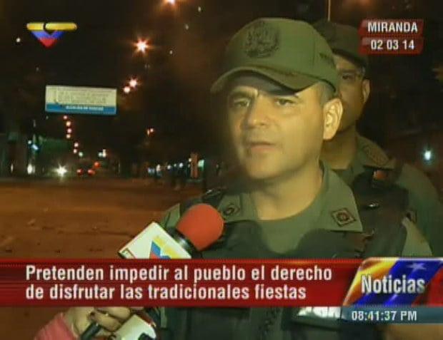 El jefe del Comando Regional (Core) número 5, general Manuel Quevedo