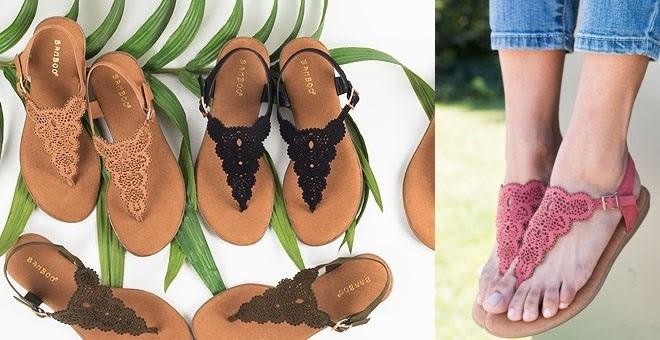 Comfy Insole Laser Cut Sandals   4 Colors