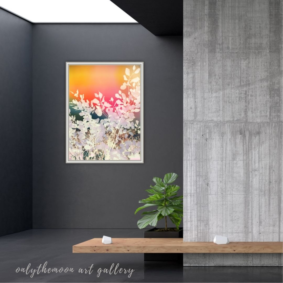 Rainbow sky leafy abstract By onlythemoon exhibition view