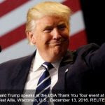 """Donald Trump fait de la """"politique d'une seule Chine"""" un instrument de négociation, ce qui n'est pas du goût de Pékin. Copie d'écran de Channel News Asia, le 14 décembre 2016."""