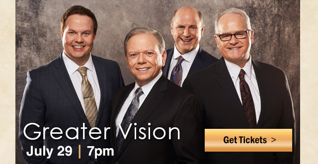 Greater Vision In Concert - July 29th at 7pm! Click for tickets!