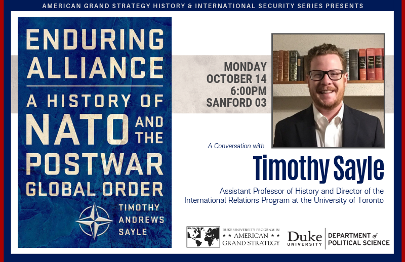 History of NATO and the Postwar Global Order @ Sanford 03