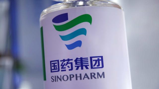 Vacina Sinopharm é 50,4% eficaz contra infeções, revela estudo