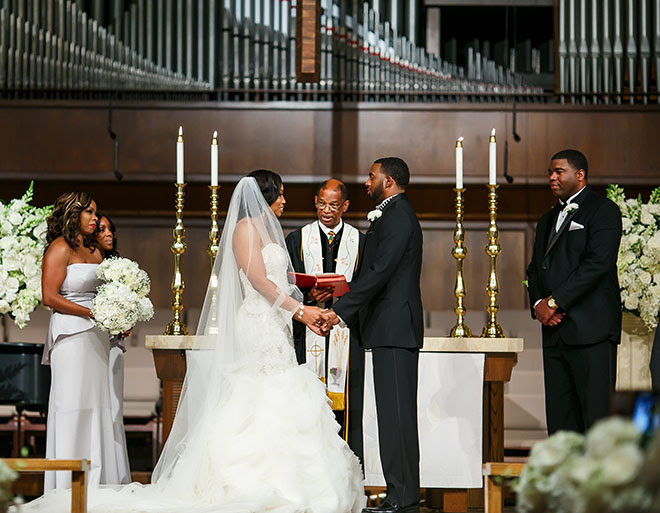 Image result for church wedding black couple