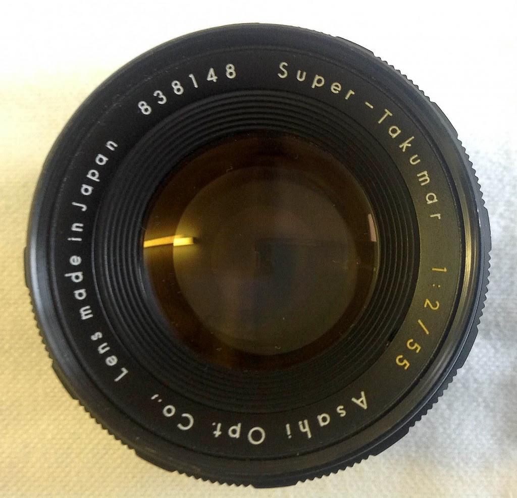 Takumar 1:2/55mm lens