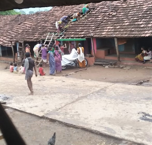 Tribal animists tear tiles off roofs of Christians' houses in Odisha state, India. (Morning Star News)