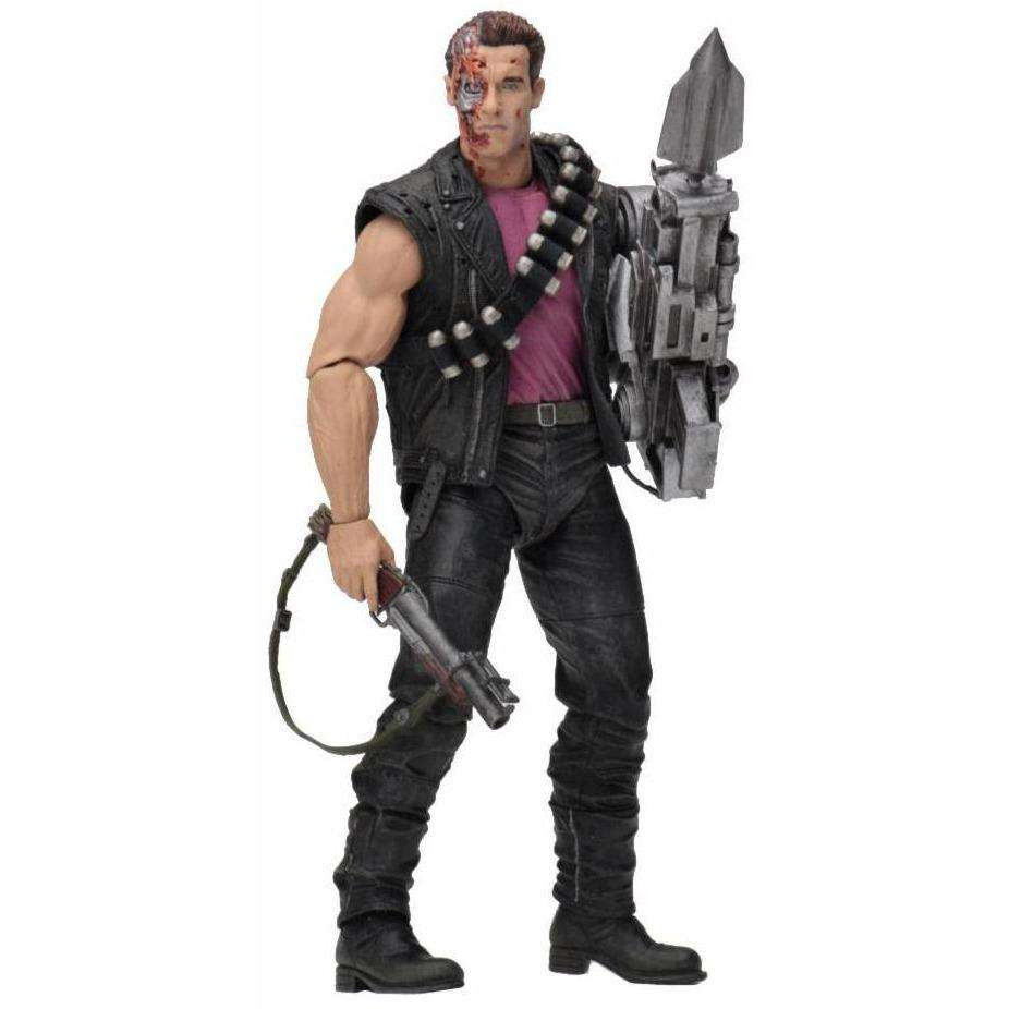 "Image of Terminator 2 - 7"" Scale Action Figure - Kenner Tribute - Power Arm T-800"