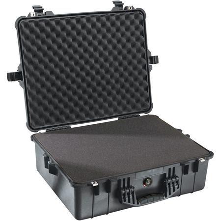 1600 Watertight Hard Case with Foam insert - Black