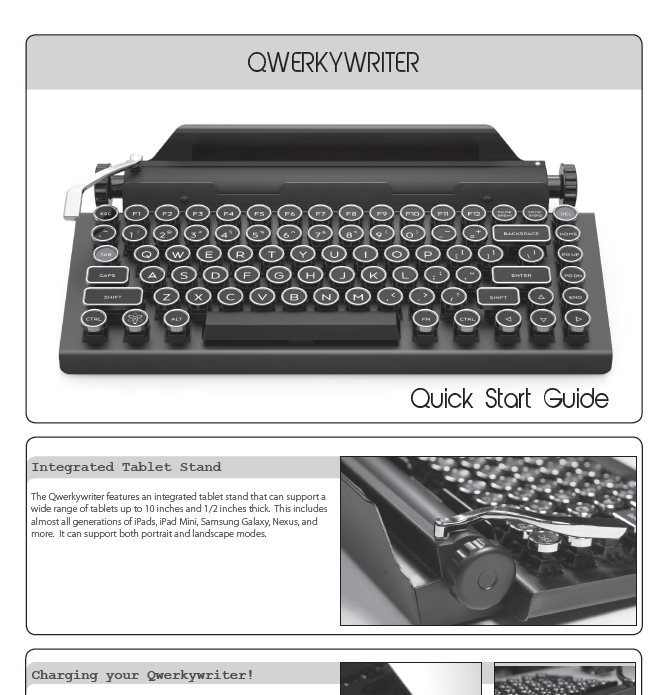 Clip of the Qwerkywriter Manual