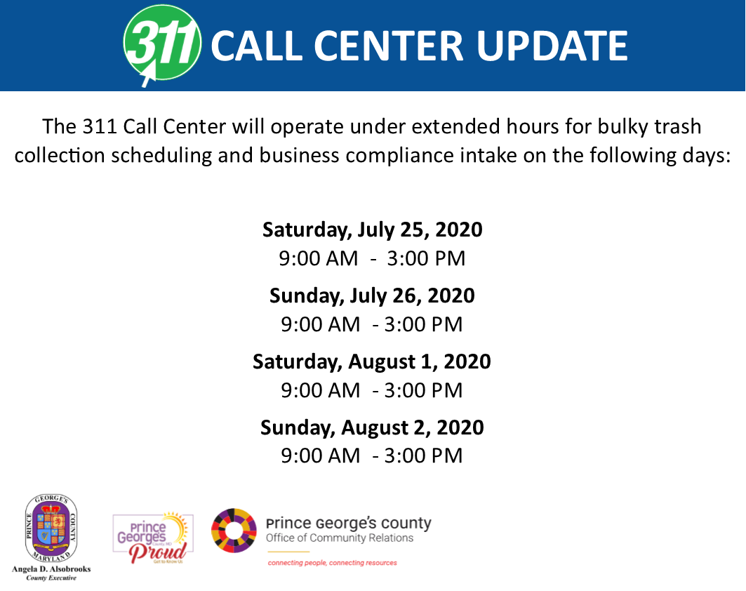 311 Call Center Extended Hours