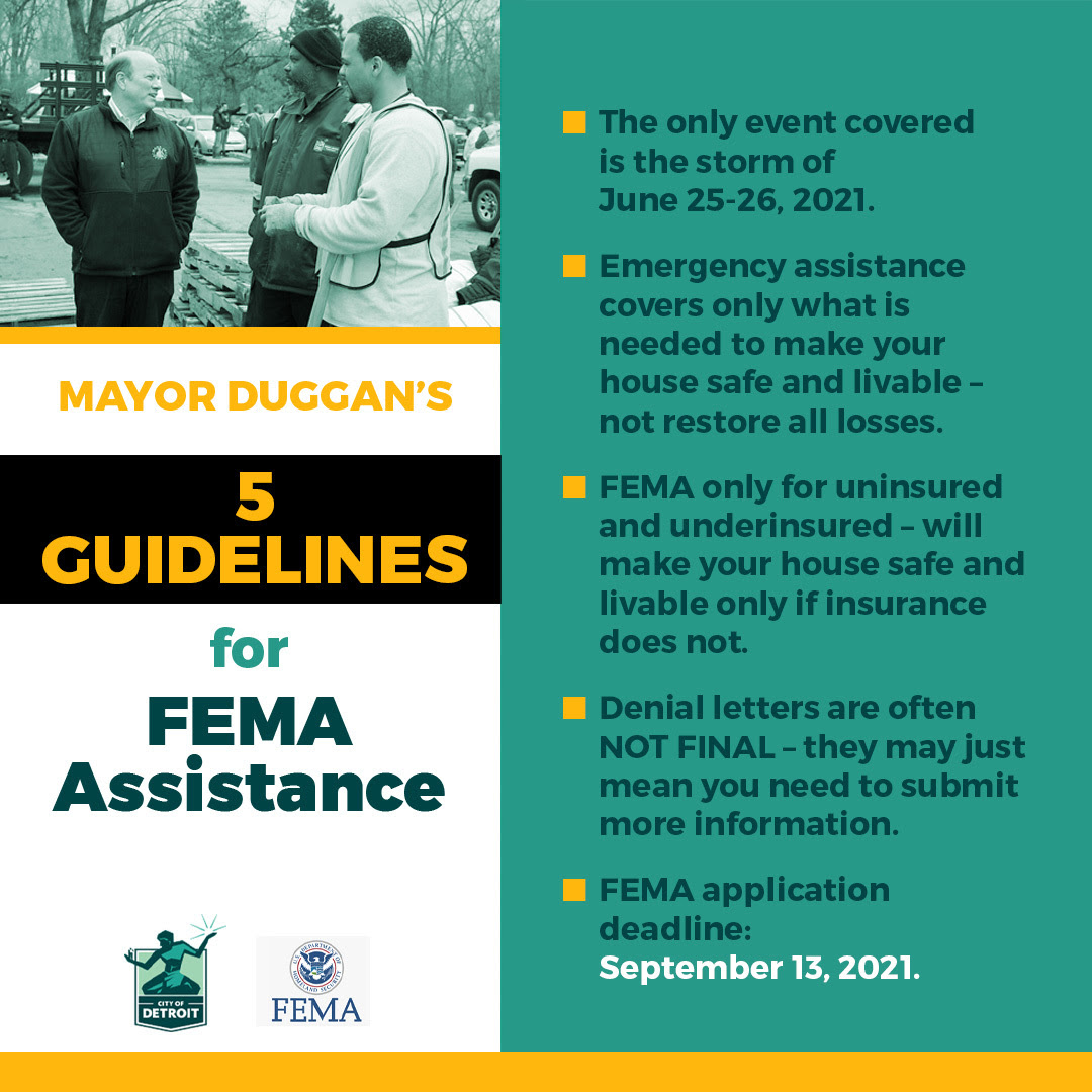 Guidelines for FEMA Assistance