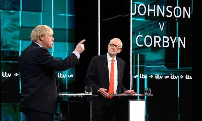 Johnson and Corbyn in debate