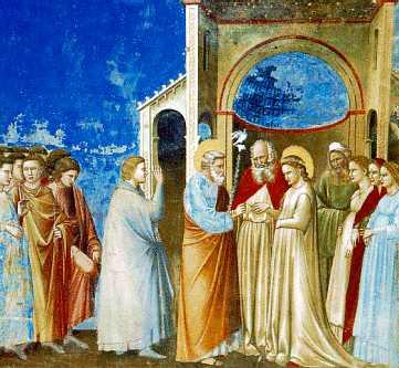 Święty Józef zaślubia Maryję