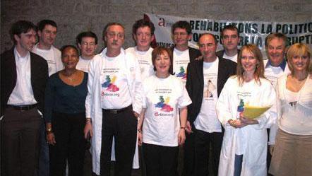Christiane Taubira lors dela soirée de lancement de la campagne éthique d'Anticor, dans le cadre des élections présidentielles de 2007.