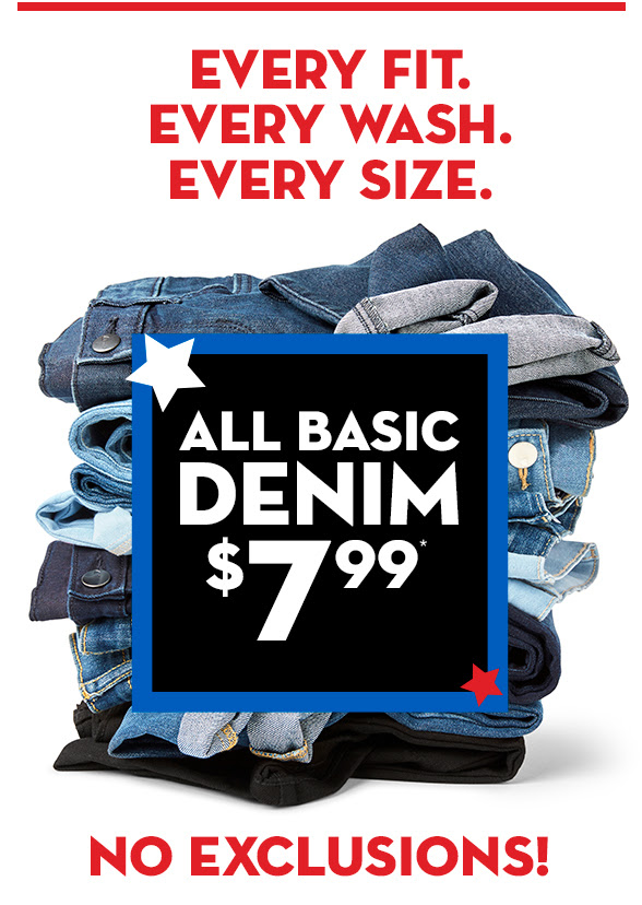 All Basic Denim $7.99
