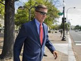 In this Sept. 10, 2019 file photo, Michael Flynn, President Donald Trump's former national security adviser, leaves the federal court following a status conference in Washington. (AP Photo/Manuel Balce Ceneta) **FILE**