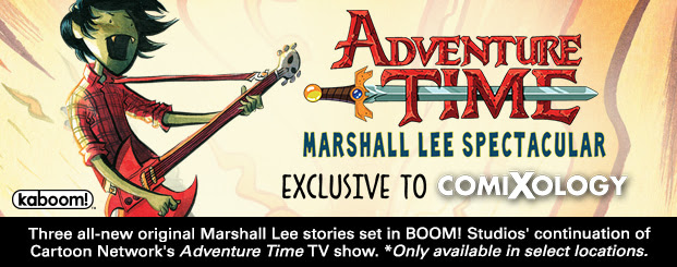 Adventure Time Marshall Lee Spectacular Three all-new original Marshall Lee stories set in BOOM! Studios' continuation of Cartoon Network's Adventure Time TV show. *Only available in select locations.