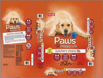 Sunshine Mills Recall - Paws Happy Life Butcher's Choice Dog Food