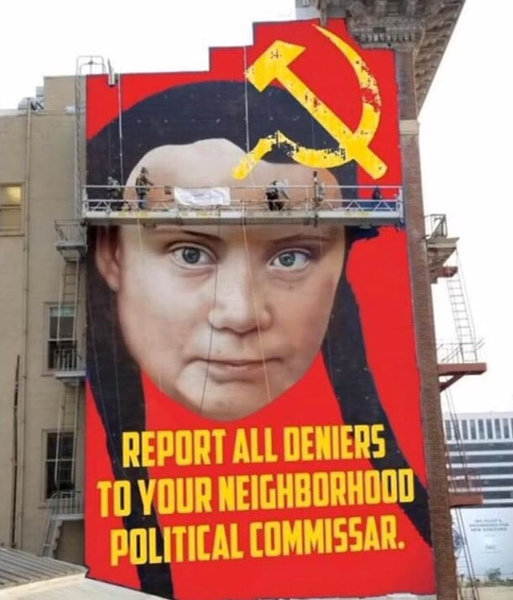 a picture of the defaced Greta mural