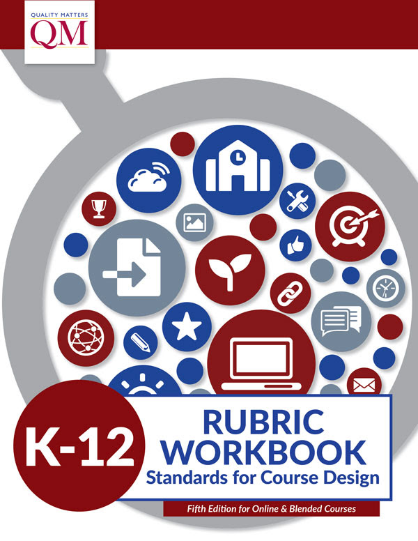 K-12 Rubric Workbook Cover with magnifying glass