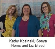 MeL team: Kathy Kosinski, Sonya Norris and Liz Breed