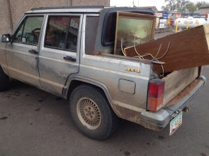 Modified Cherokee for hauling dogs