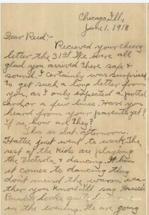 WWI letter
