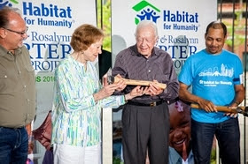 President and Mrs. Carter announce Canada as the 2017 host site for the 34th Jimmy & Rosalynn Carter Work Project